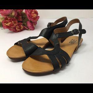 "MIZ MOOZ Black Leather Sandal ""Ashe"" SZ 10 EUR 41"